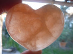 COEUR EN SELENITE ORANGE n°5